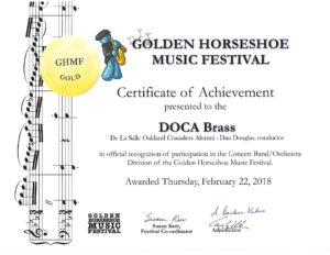 GHMF Gold Certificate
